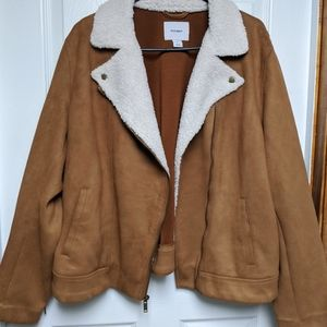 Old Navy Faux Suede Motor Jacket